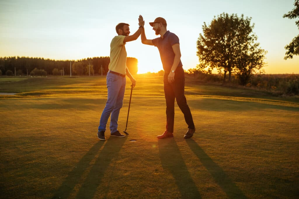 High Five on the Golf Course